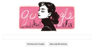 doodle hari ini - Audrey Hepburn