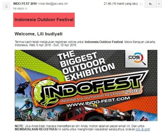 online registration indofest 2016 email